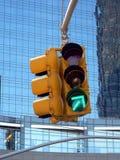 箭头绿灯业务量 免版税库存图片