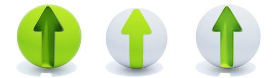 箭头绿色范围 免版税库存照片