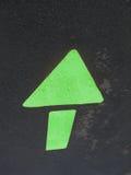 箭头绿色 库存图片