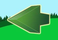 箭头绿色 库存例证