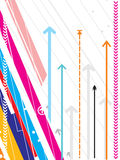 箭头背景详细资料喂系列技术向量 免版税库存图片