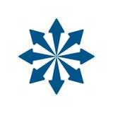 箭头蓝色动态 免版税库存图片