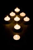 箭头蜡烛 免版税图库摄影