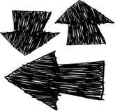 箭头被画的现有量 图库摄影