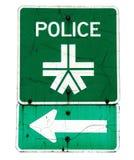 箭头警察签字 库存照片
