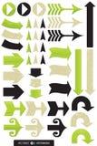 箭头设计种类 免版税库存照片