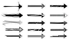 箭头设计要素 免版税库存照片