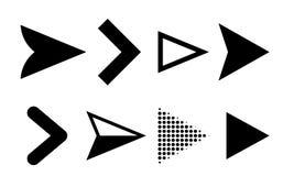 箭头象传染媒介方向尖标志 库存例证