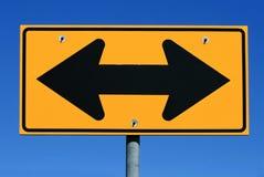 箭头路支持符号二 图库摄影