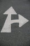 箭头路标 库存照片