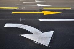 箭头运输路线标记 免版税库存图片