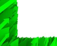 箭头部分背景的绿色 免版税库存照片