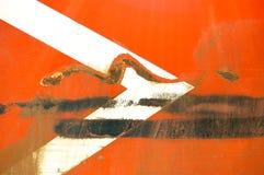 箭头钢板蜡纸 免版税库存图片