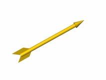 箭头黄色 免版税库存照片