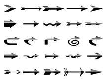 箭头黑色梯度集合白色 免版税库存图片