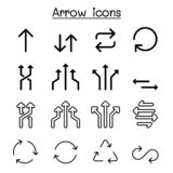 箭头,自转,圈,通报,交换,转折象集合传染媒介例证图形设计 库存例证