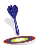 箭掷镖的圆靶 免版税图库摄影