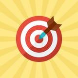 箭目标在平的样式的概念例证 库存图片