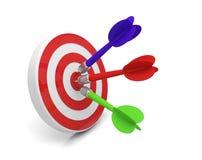 箭箭头目标目标伸手可及的距离 皇族释放例证