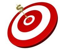 箭美元金黄命中目标 向量例证