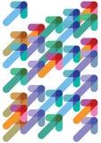 箭头五颜六色定向 免版税库存图片