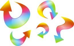 箭头例证彩虹向量 图库摄影
