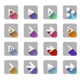箭头元素象标志五颜六色的长的阴影 库存图片