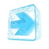 箭头冰 免版税图库摄影