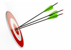 箭头和目标 免版税库存照片