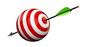 箭头和目标 免版税库存图片