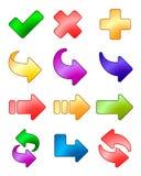 箭头图标集 免版税库存图片