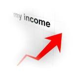 箭头图表 免版税库存照片