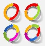 箭头圈子圆的循环绘制 免版税库存图片