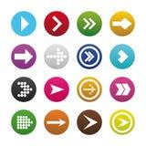 箭头在集合的标志象 免版税库存照片