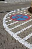 箭头水平的标号路主街上 免版税库存照片