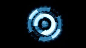 箭头接口数据装载者蓝色焕发圆回合 包括的阿尔法通道 库存例证