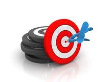 箭头概念成功目标 免版税库存图片