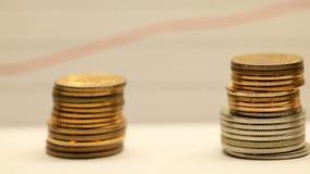 箭头概念美元增长收入查出螺旋栈白色 影视素材