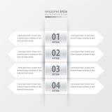 箭头横幅设计白色颜色 免版税库存图片