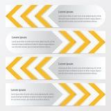 箭头横幅设计黄色颜色 皇族释放例证