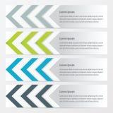 箭头横幅设计绿色,蓝色,灰色颜色 库存例证