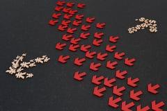 箭头的货币符号 免版税图库摄影