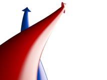 箭头竞争, 3D 免版税库存图片