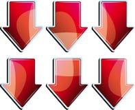 箭头红色集 免版税图库摄影