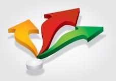 箭头背景空白颜色的图标被设置 免版税库存图片