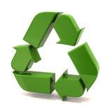 箭头绿色回收 库存照片