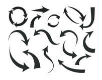 箭头被画的现有量 向量例证