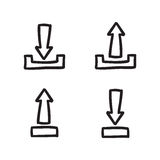 箭头象集合集合传染媒介线乱画标志 图库摄影