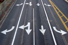 箭头运输路线 免版税图库摄影
