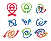 箭头集合符号 库存图片